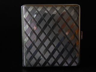 Zigarettenetui,  Art Deco,  830er Silber,  Deutsch Um 1930. Bild