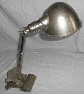 Selten Antike Hala Drp Lampe Bauhaus Art Deco Klemmlampe Tischlampe Wandlampe Bild