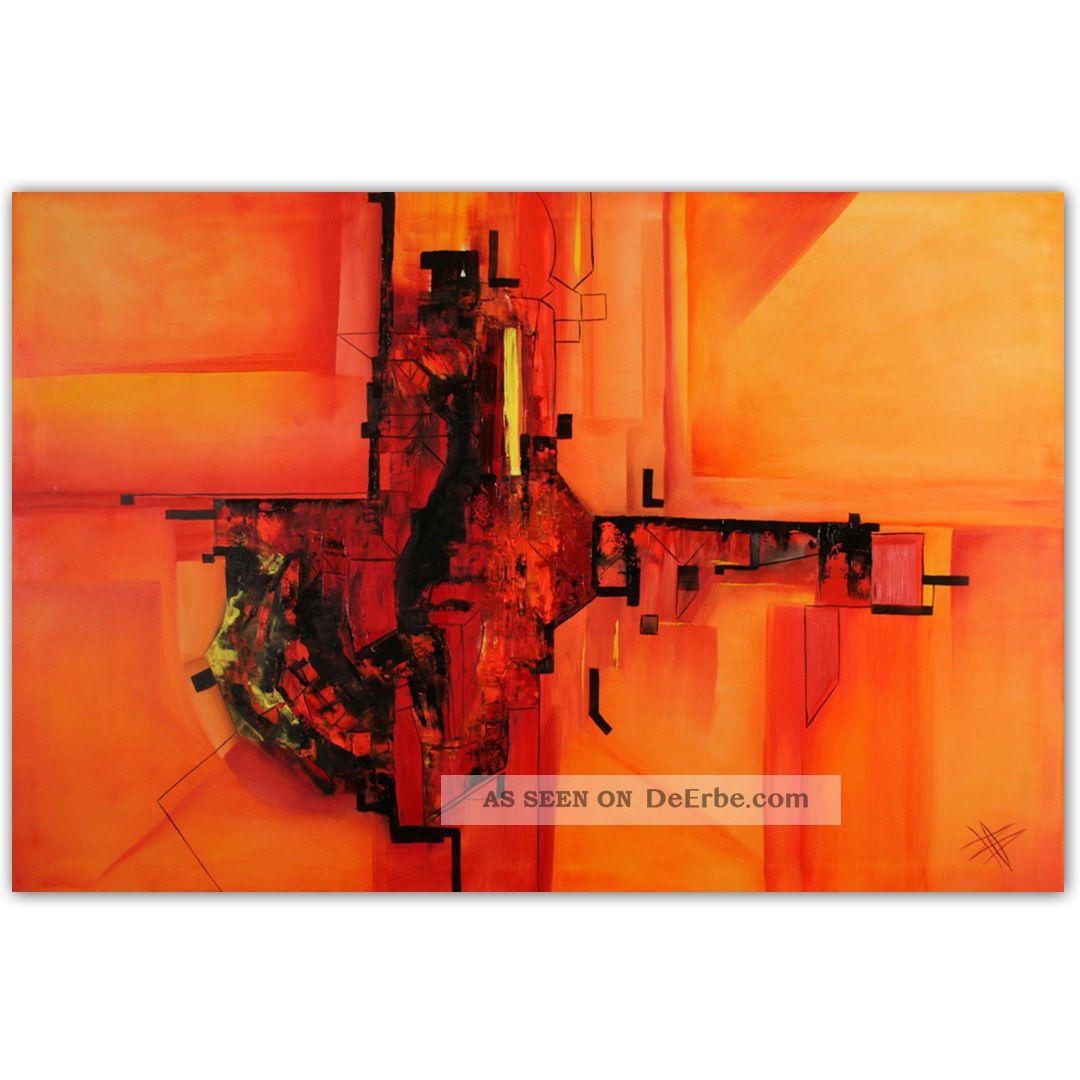 moderne kunst malerei abstrakt xxl bild l leinwand von bozena ossowski. Black Bedroom Furniture Sets. Home Design Ideas