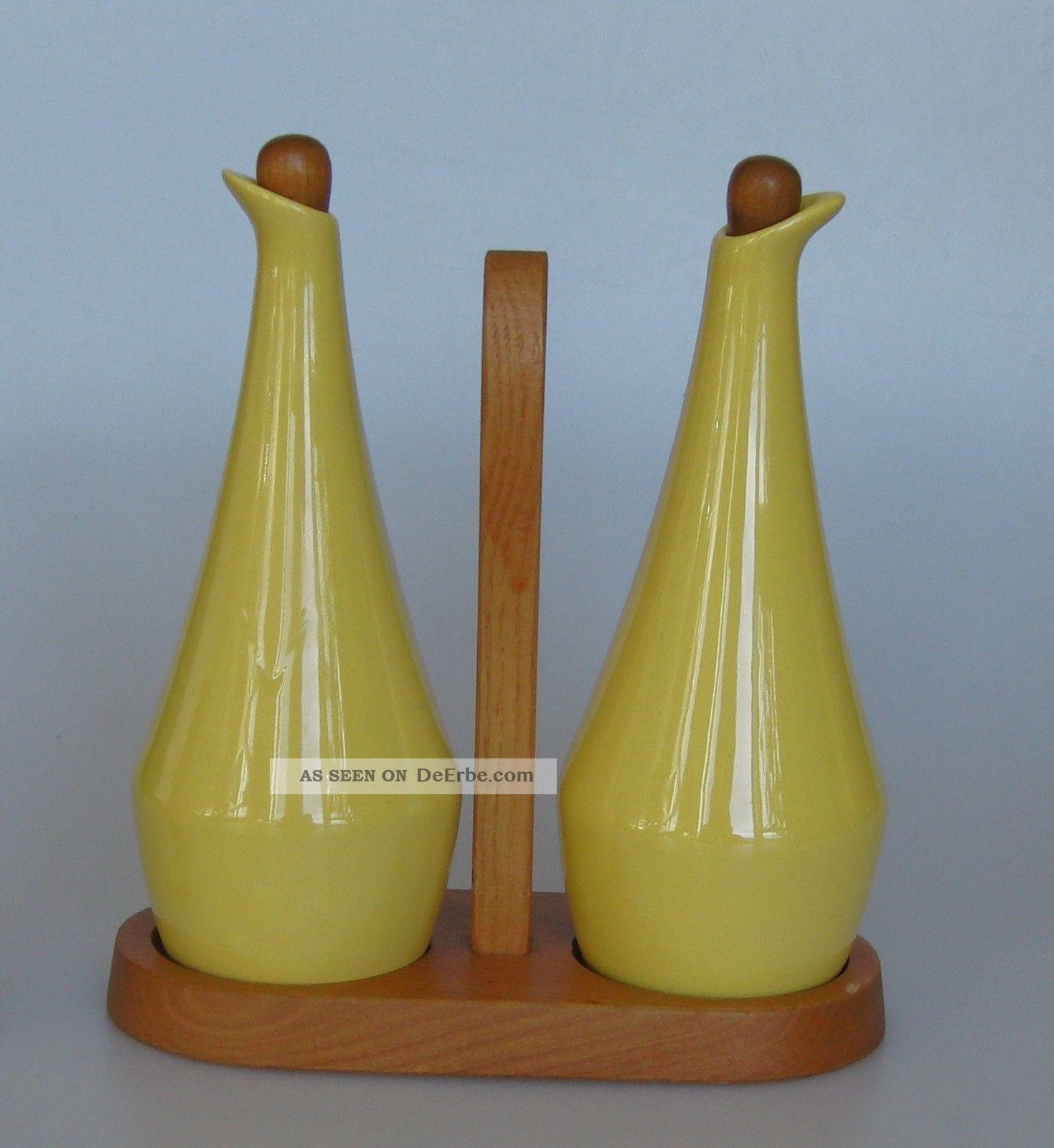 Jie Gantofta Schweden Essig Öl Keramik Gelb Design 1960 / 1970 Sweden Nach Stil & Epoche Bild