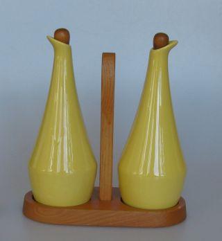 Jie Gantofta Schweden Essig Öl Keramik Gelb Design 1960 / 1970 Sweden Bild