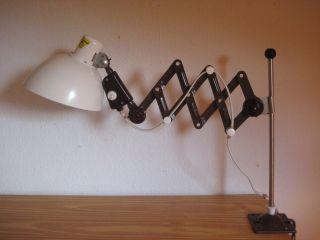 Veb Scherenlampe Zweckleuchtenbau Dresden Werkstattlampe Leuchte 50er Bauhaus Bild