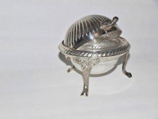 Kaviarschale Mit Abdeckung Und Glasschale,  Teilversilbert,  Art Deco Stil Bild
