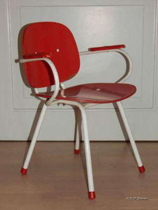 Stuhl Mit Armlehnen Kinderstuhl Kindersessel Puppenstuhl Holz Stahlrohr Alt Bild