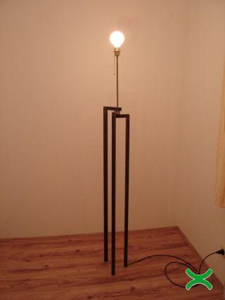 Design Lampe Stehlampe Bauhaus Tripod Loft Art Deco Vintage Lamp Industrial Bild
