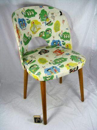 Selten Schöner 50´s Design Kinderstuhl / Childrens Chair Max & Moritz Motive Bild
