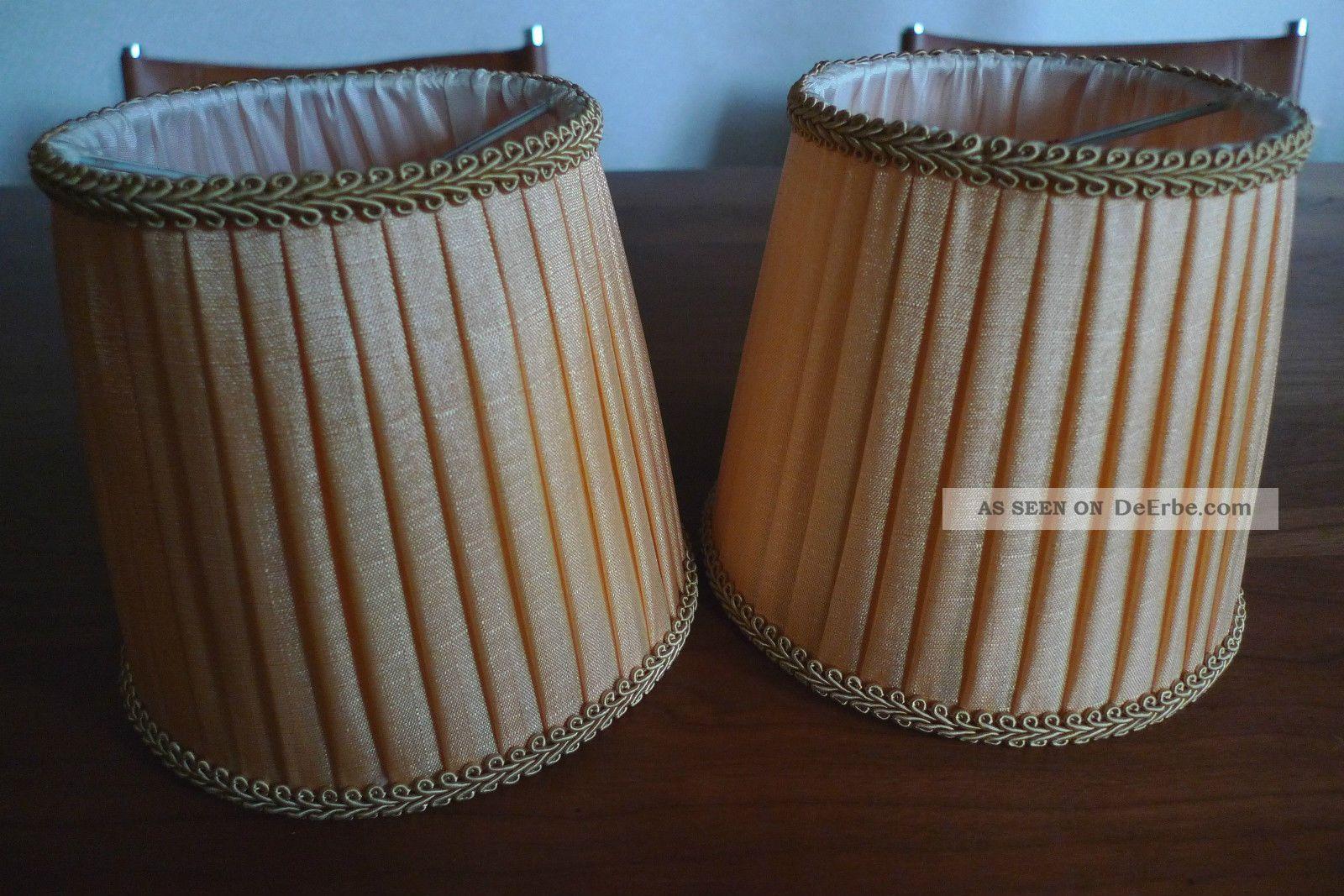 2 Lampenschirme Aufsteckschirm Stoff Pagode Ersatz Steckschirme