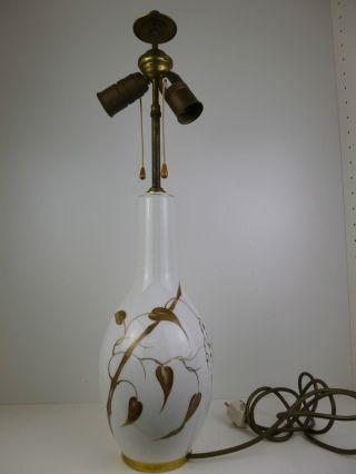 Rosenthal Kunstabteilung - Art Deco - Tischlampe - Reiche Florale Goldmalerei Bild