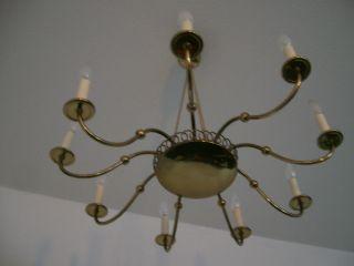 Antik Deckenlampe Lampe Kronleuchter Art Deko 9 Flammig Bild