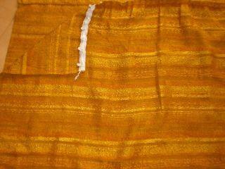 4x Vintage Vorhang Jacquard Stoff 60er 70 Er Jahre 238cm H X 120 B Bild
