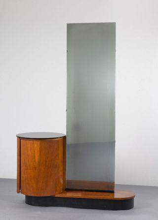 Bauhaus Art Deco Spiegelkommode Vanity Table Jindrich Halabala Czech Orig 1935 Bild