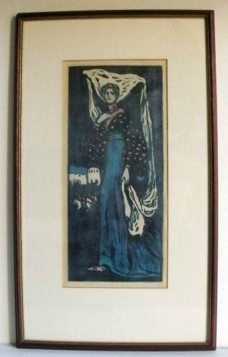 Wassily Kandinsky Die Nacht 1903 Farbholzschnitt Bild