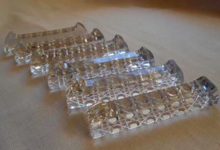 6 Wunderschöne Kristall Messerbänkchen Mit Schliff Besteckablage Messer Bänkchen Bild