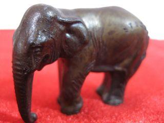 Elefant; Figur; Stromba; Zinnguss; Alt; 120g; Broncepatina; Törööööööööööööööööö Bild