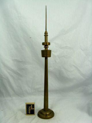 Handmade 70´s Design Television Tower Brass Model Fernsehturm Modell 44 Cm Bild