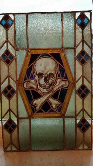 Bleiglasfenster Freimauerei Bild