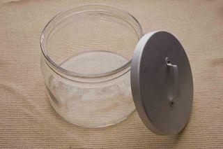 Ikea Glasdose Riesig Keksdose Gross Metalldeckel Ca.  2,  5l Unbenutzt,  Eingelagert Bild