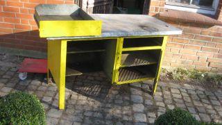 Werkbank Industrie Design Anrichte Loft Sideboard Fabrikmöbel Arbeitstisch Bild