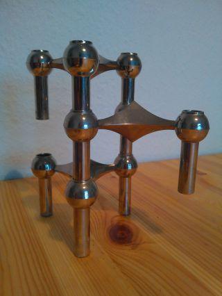 3x Kerzenständer 60er 70er Metall Panton Eames Design Kerzen Vintage Nagel Quist Bild