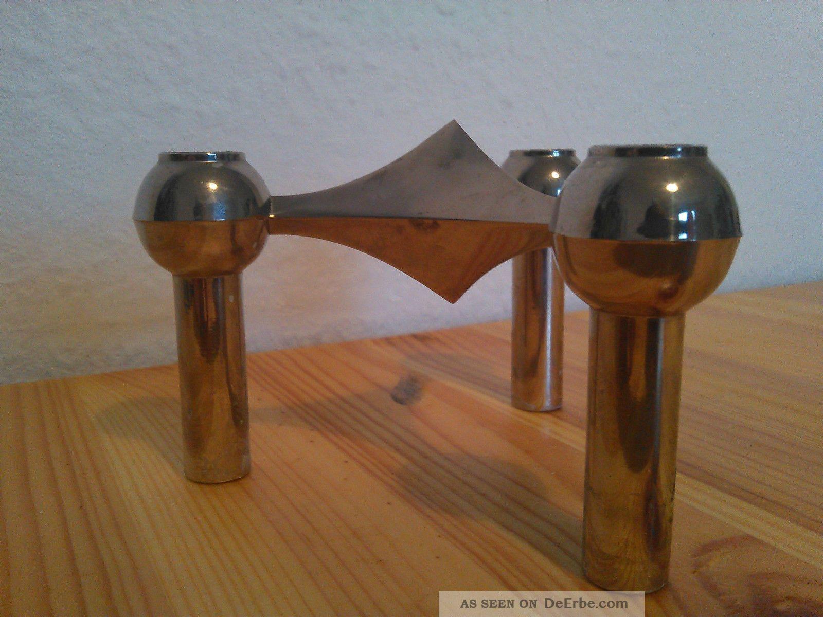 3x Kerzenstu00e4nder 60er 70er Metall Panton Eames Design Kerzen Vintage Nagel Quist