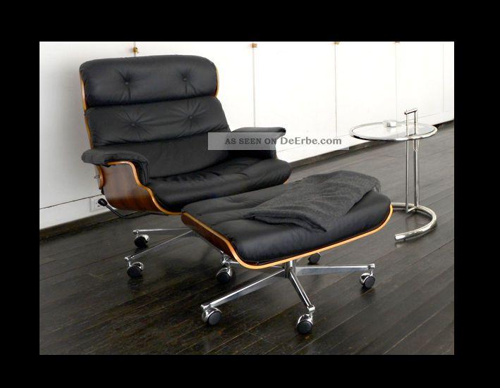 Lounge Chair Ottomane Aus Der Eames ära Ein Echtes Vintage