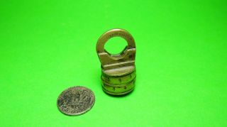 Altes Schloss Zahlenschloss Combination Lock Old Padlock Brass No Key Messing Bild