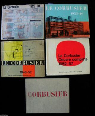 5 BÄnde Oevre Le Corbusier ° 1929 - 34,  1938 - 46,  1946 - 52,  1952 - 57,  1957 - 65 Bild