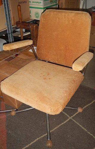 Vintage Chair Drehstuhl Architektenstuhl Art Deco Bauhaus Loft Um1930 Chrom Bild