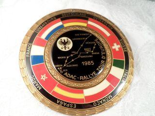 Plakette Messing Emaille Adac Rallye Tour D`europe1985 C.  Poellath Schrobenhausen Bild