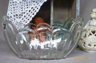 Art Deco Jardiniere Ovale SchÜssel Pressglas Klar Landhaus Shabby Franske Jdl Bild