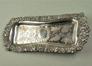 Stiftablage - Schale,  Kupfer Versilbert,  Jugendstil,  23x10 Cm,  Um Ca.  1890.  Antik Bild