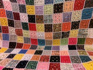 Häkeldecke Häkel Patchwork Decke Überwurf Vintage Rainbow Crochet 130 X 130 Bild
