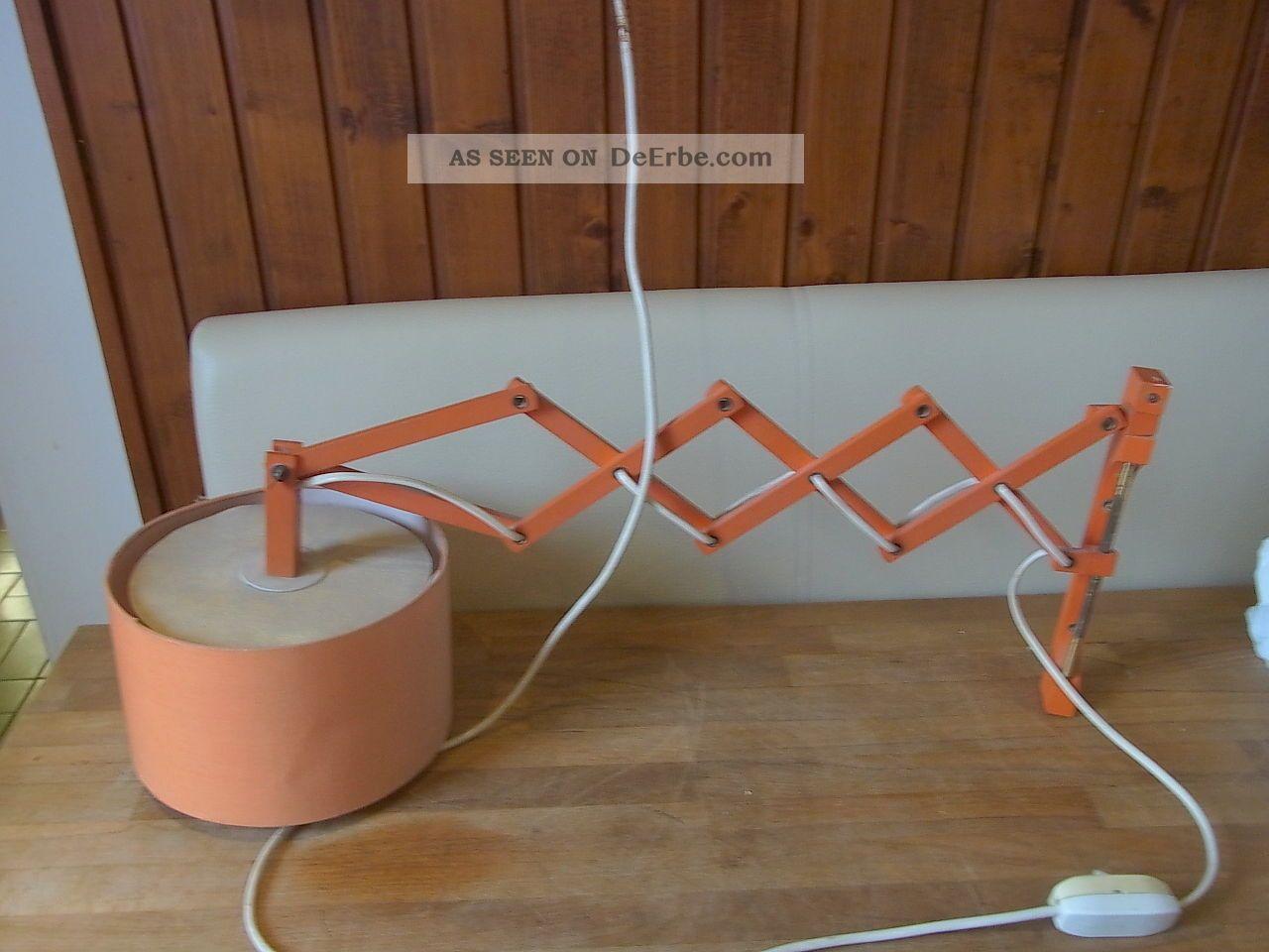 scheren lampe holz orange leuchte wandmontage 60er jahre d nemark funktioniert. Black Bedroom Furniture Sets. Home Design Ideas