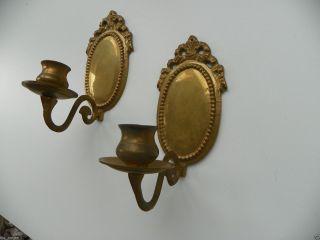 2 Alte Klavierleuchten,  Kerzenleuchter,  Wandleuchter,  Kerzenhalter Originale Bild