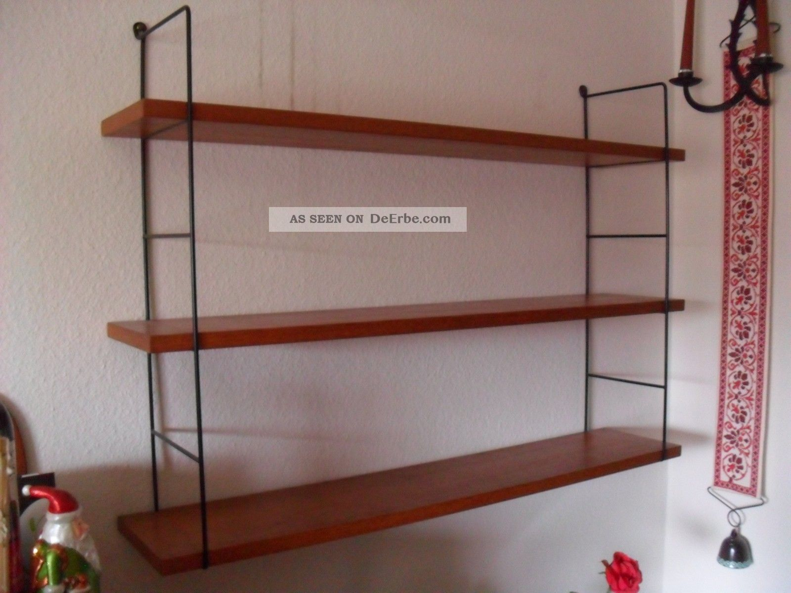 string nisse teak 60s 60er regal system bookshelf system mid century 3. Black Bedroom Furniture Sets. Home Design Ideas
