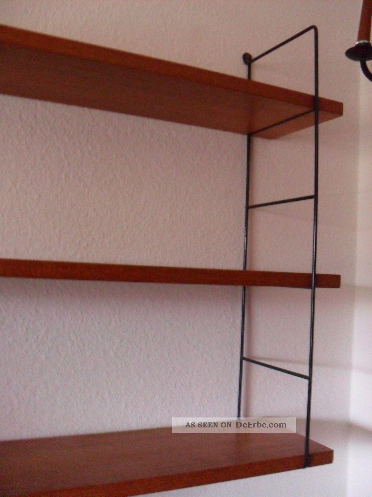 string nisse teak 60s 60er regal system bookshelf system mid century 3. Black Bedroom Furniture Sets. Home Design Ideas