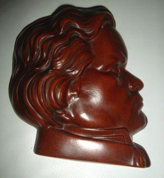 Wandmaske Maske Keramik Mai 630 Goebel 1959 Hummelwerke,  H=20 Cm,  Beethoven Musik Bild