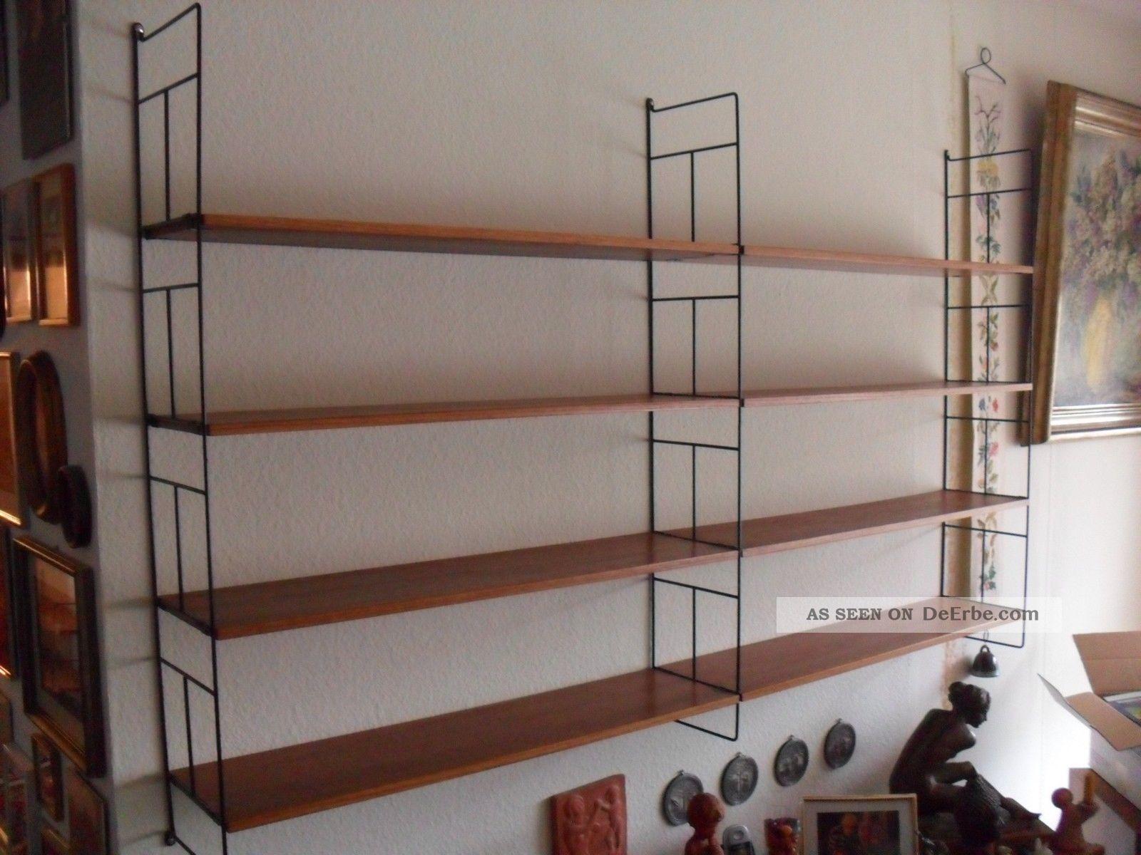 string nisse teak 60s 60er regal system mid century 1. Black Bedroom Furniture Sets. Home Design Ideas