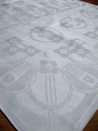 Jugendstil Tafeltuch Entwurf Art Peter Behrens Blumenkränze Bild