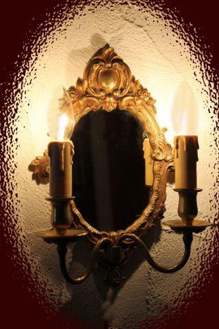 Antike Spiegel - Wand - Lampe,  Kommoden - Leuchte,  Elsass Stil Louis Xiv Bild