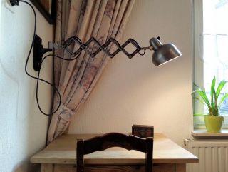 Escolux Scherenlampe Schreibtischlampe Werkstatt Lampe Loft Art Deco Bauhaus Bild