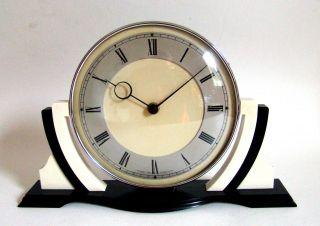 Tischuhr Art Deco Antik Great Britain 8 - Day Bakelite Vintage Clock 40s Top Rare Bild