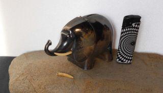 Wmf - Straussenmarke 20er.  Elefant - Spardose Silberaufl.  Sammler Rarität Top Bild