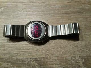Klassische Edelstahl Herren Led Uhr Litronix Digital 70iger Jahre Bild