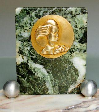 Art Deco Tischleuchte Geätztes Glas Marmor M.  Plakette Sabino Degue Bauhaus Bild