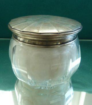 Große Dose 800 Er Silber Fasetten Glas Kristall Bild