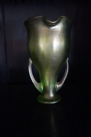 Loetz Vase Um1900 Perfekter,  Mehrfach Publiziert,  Sensationelle Form Bild