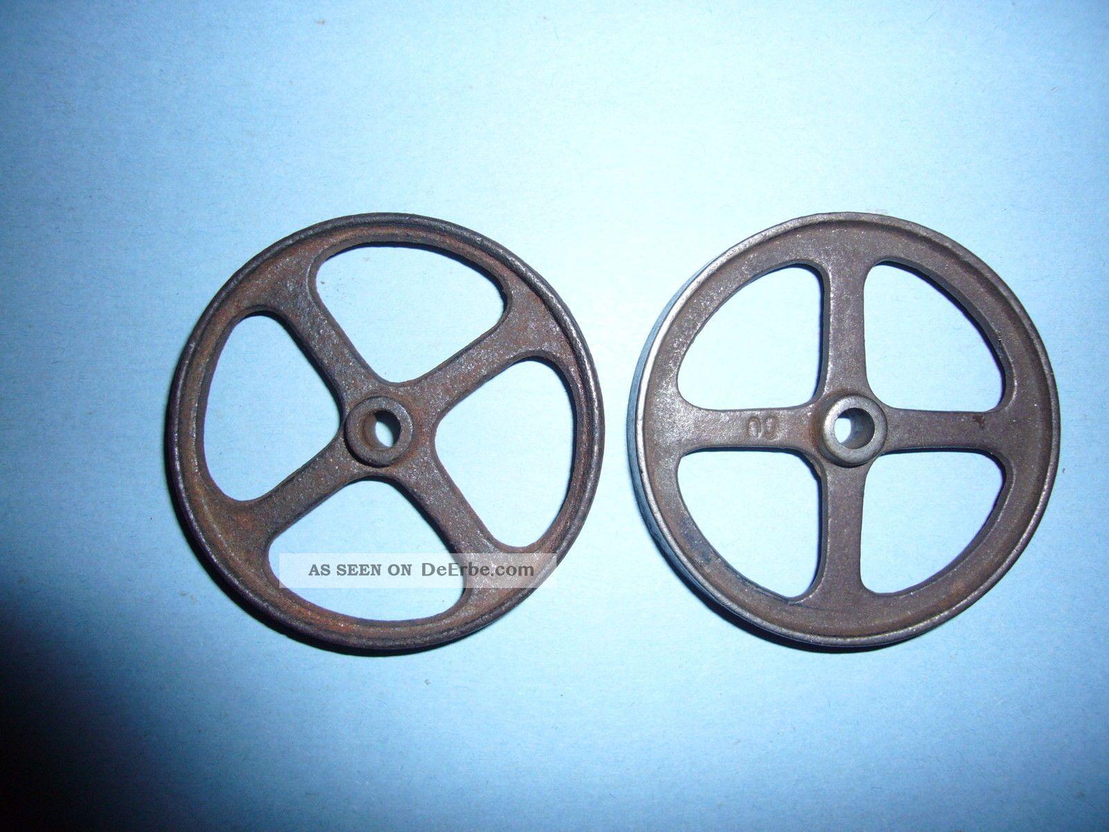 2gußräder F.  Baukasten,  Dampfm.  Lokomobile,  20erjahre,  Marke Unbekannt,  Gut Erhalten Gefertigt nach 1945 Bild