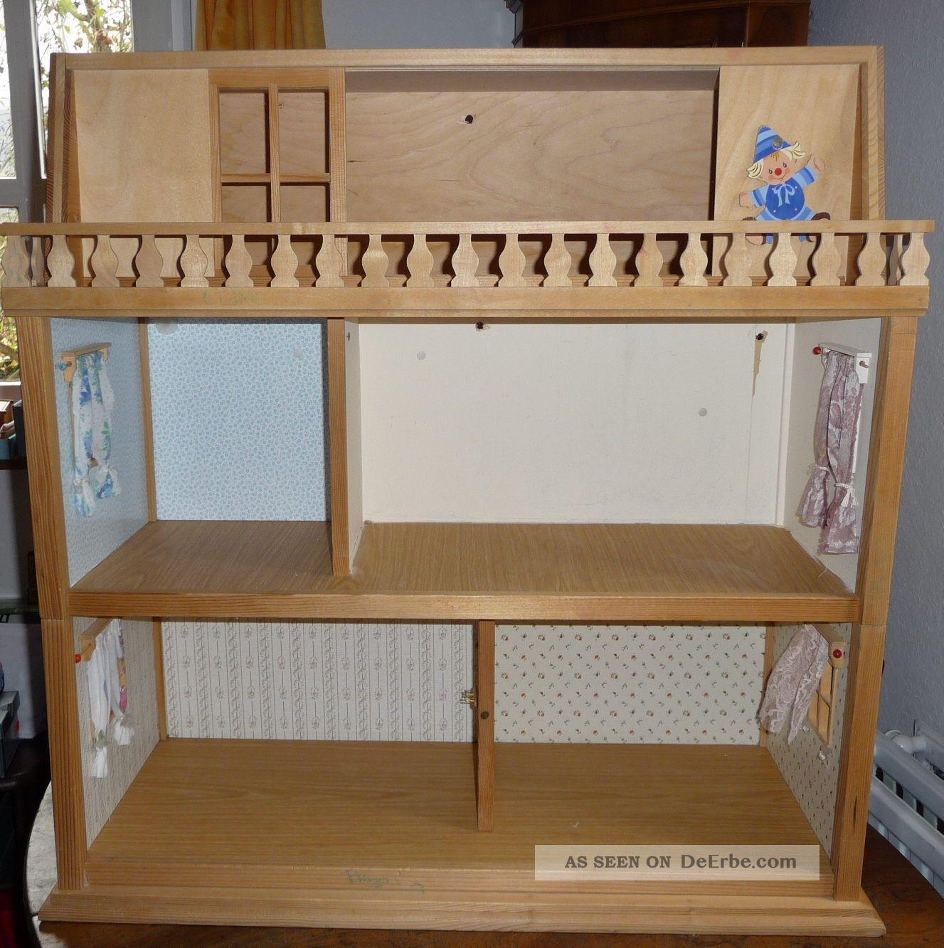 dora kuhn puppenstube puppenhaus puppenk che holz schlafzimmer 3 stockwerke 1970. Black Bedroom Furniture Sets. Home Design Ideas