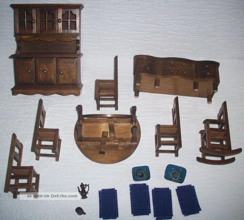 altes sch nes esszimmer aus holz 70er jahre m bel f r. Black Bedroom Furniture Sets. Home Design Ideas